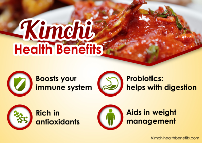 the health benefits of kimchi Health benefits of kimchi fermented foods are packed with beneficial microorganisms that most people, especially in the us, do not get elsewhere many are not aware that your gut houses about 85 percent of your immune system.